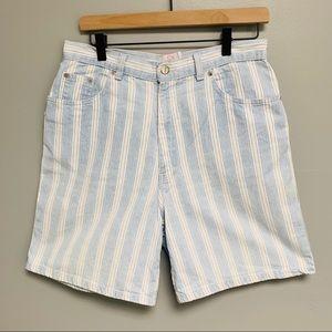 Vintage Sasson High Rise Striped Shorts Size 11